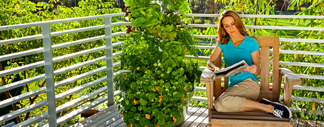 Tower Gardening and Juice Plus - Healthy Food