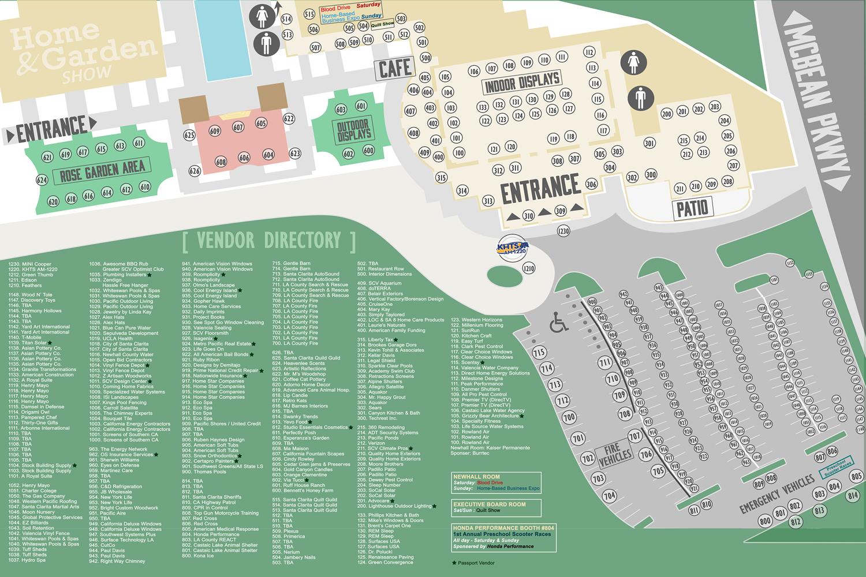 California Map Santa Clarita.2015 Santa Clarita Home And Garden Show Vendor Directory Map 2020