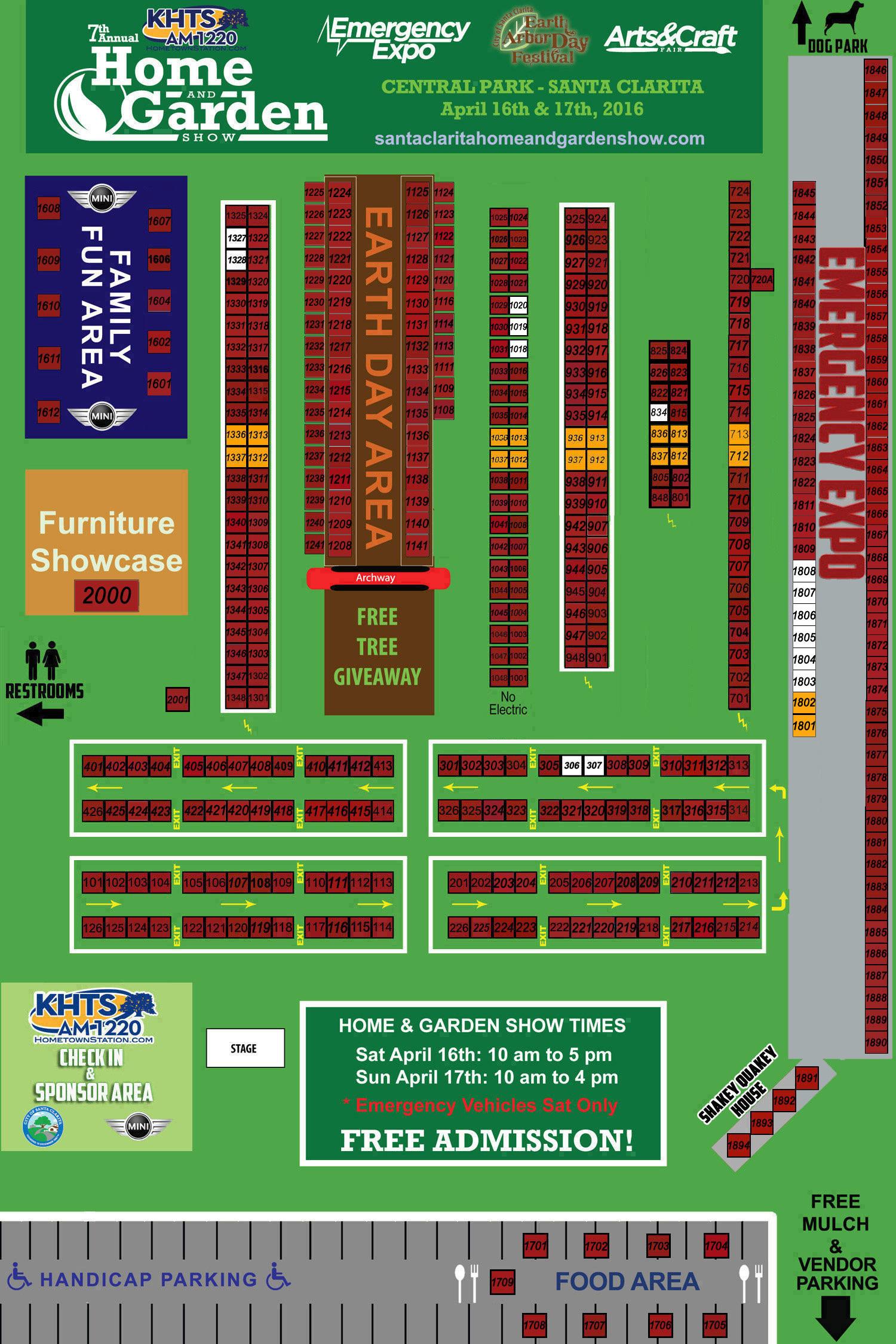 2016 Khts Santa Clarita Home And Garden Show Map2019 Khts Santa Clarita Home And Garden Show