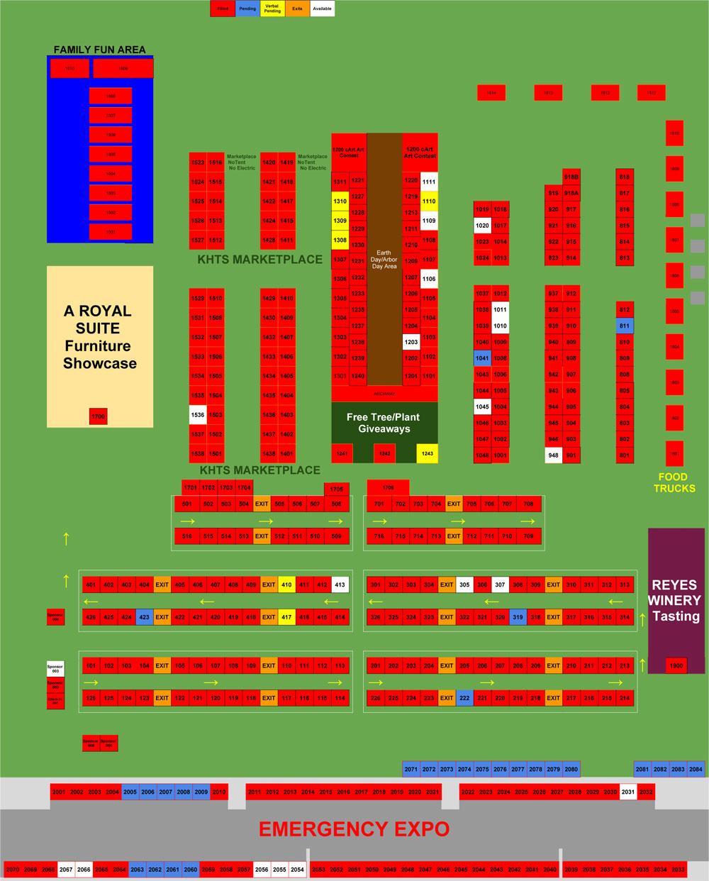 2017 KHTS Santa Clarita Home and Garden Show Map